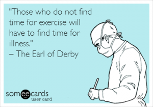 No time for exercise ecard
