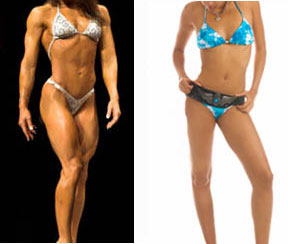 2 women at 15% body fat
